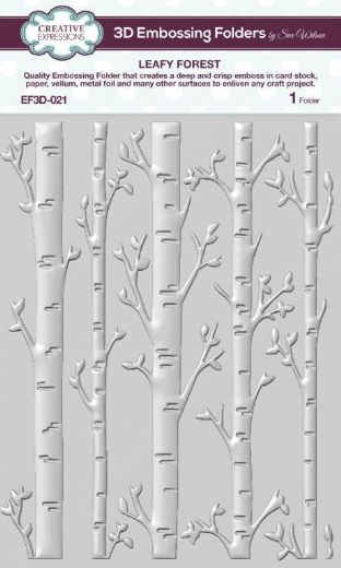 CE Embossing Folder 3D 5 3/4 x 7 1/2 Leafy Forest